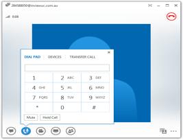 Skype for Businessの操作画面の写真